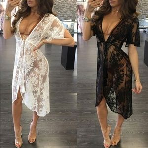 Other - Black or white Lace cover up